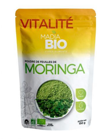 Poudre de Moringa Bio (AB) - Super Aliments 150g - Madia Bio