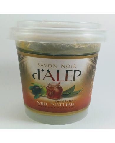 Savon Noir d'Alep - Miel Naturel - 100% Naturel & Biodégradable - H&S France