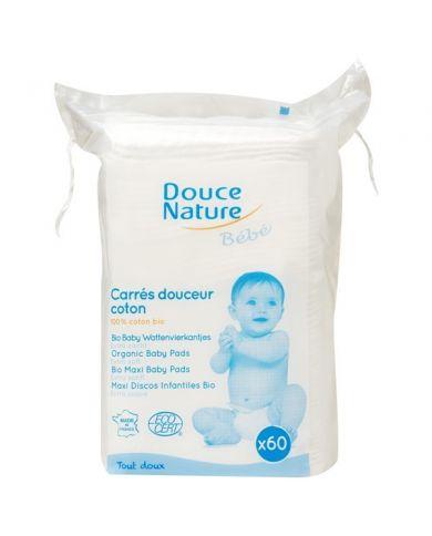 Maxi Carrés de Coton Bio pour bébé - 60 Carrés - Douce Nature