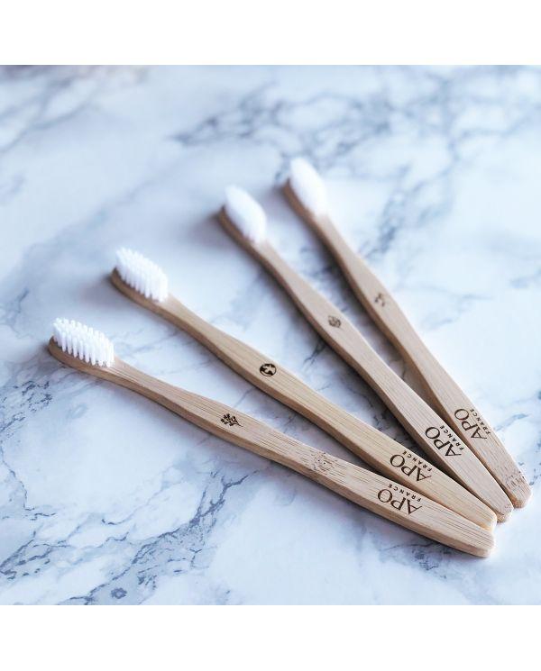 Brosse à dents en Bambou pour enfants - Extra-Souple - APO