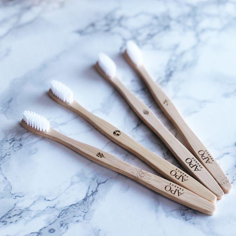 Brosse à dents en Bambou pour adultes - Medium - APO