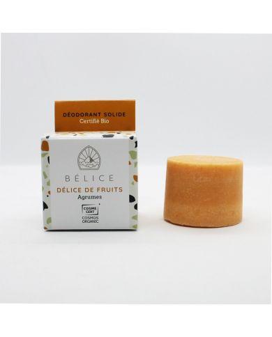 Déodorant Solide Bio - Délice de Fruits (Agrumes) - 38g - Bélice