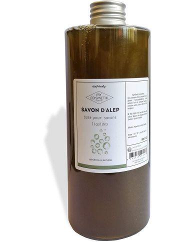 Savon liquide d'Alep 15% Baies de Laurier - 100% Naturel - 500 ml - MyCosmetik