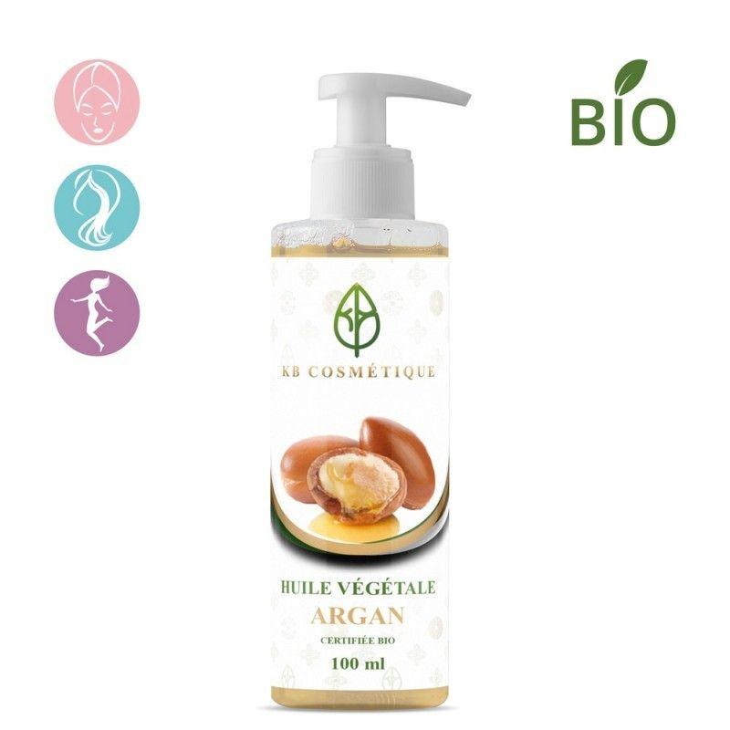 Huile Végétale D'Argan Bio - 100 ml - KB Cosmétique
