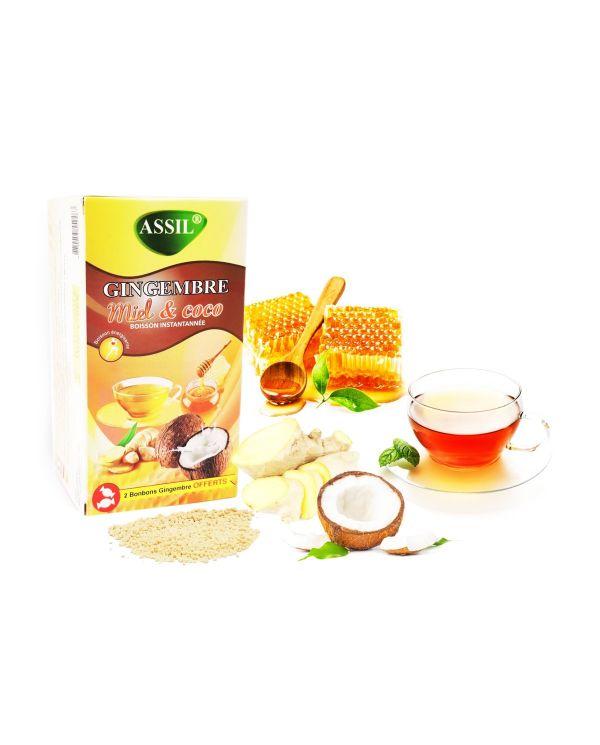 Tisane Gingembre Miel & Coco - 100% Naturelle - ASSIL