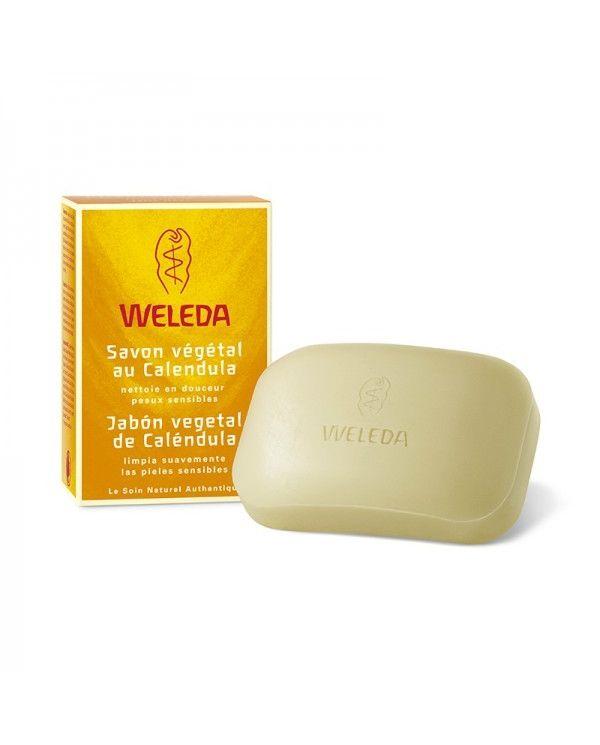 Savon végétal Calendula - Peaux Sensibles & Bébés - 100 g - Weleda
