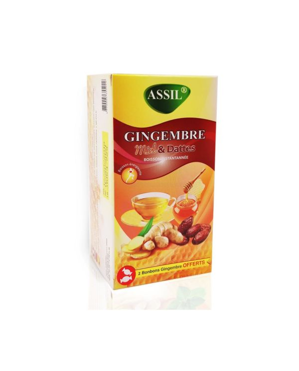 Tisane Gingembre Miel & Dattes - 100% Naturelle - ASSIL