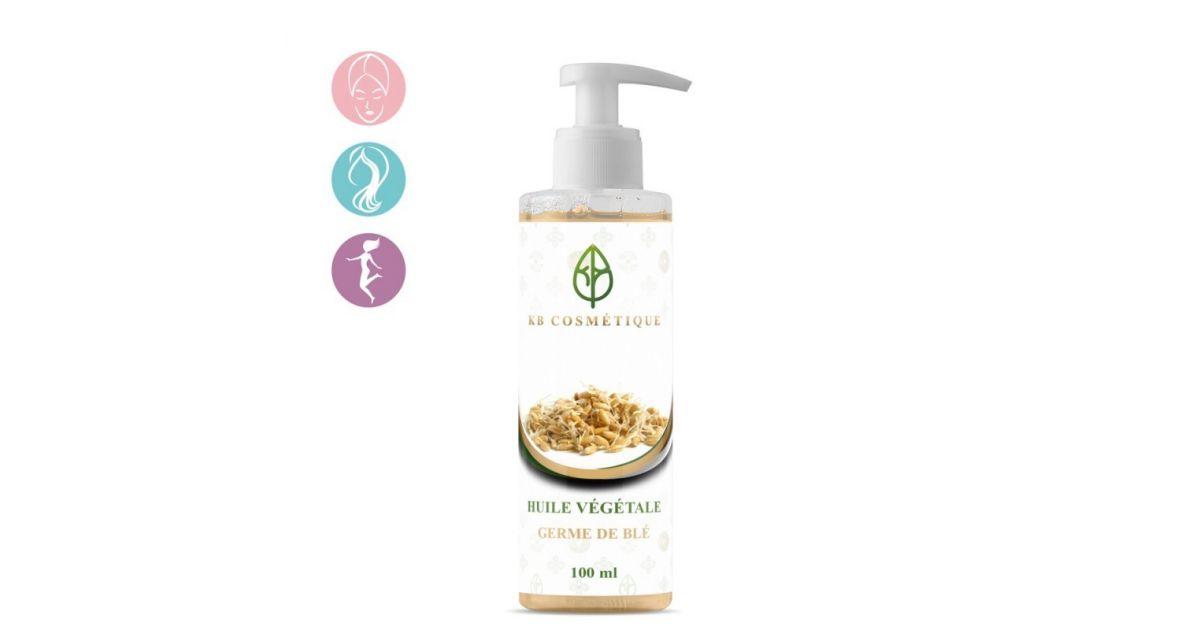 Huile Végétale de germe de blé - 100% naturelle - 100 ml - KB Cosmétique