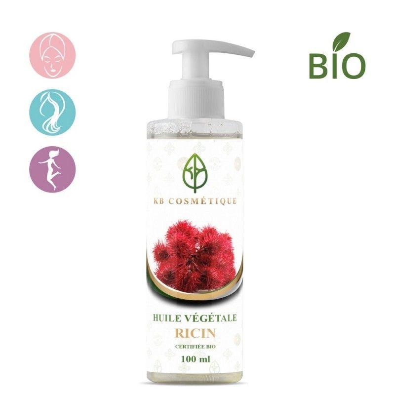 Huile Végétale de Ricin Bio - 100 ml - KB Cosmétique