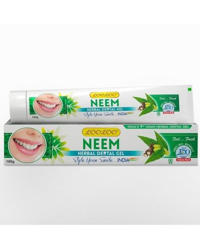 Dentifrice Herbal - Neem (Margousier) - 100% naturel & Sans fluor - 100g - LooLoo
