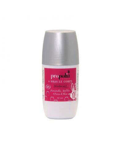 Déodorant roll-on Bio Hamamélis, Miel et Pierre d'Alun - 50 ml - Propolia