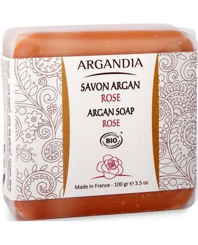 Savon Solide à la Rose Bio - 100g - Argandia