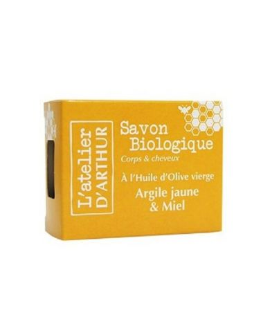 Savon à l'huile d'Olive Bio - Argile Jaune et Miel - 100g - L'Atelier d'Arthur