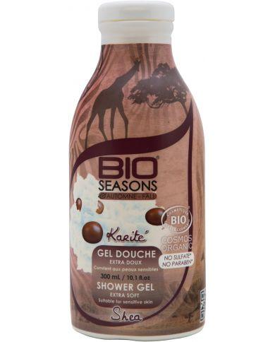 Gel douche Karité Bio extra doux - 300 ml - Bio Seasons