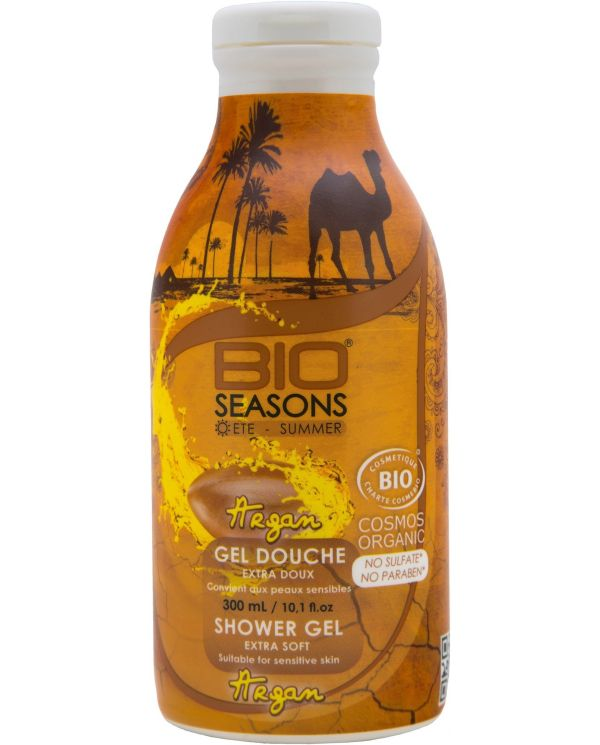 Gel Douche Bio à l'Huile d'Argan extra doux - 300 ml - Bio Seasons