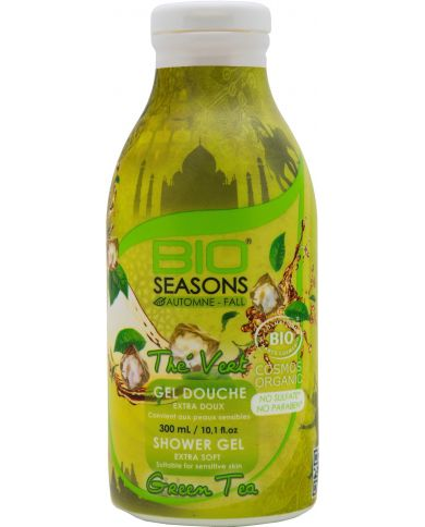 Gel Douche Bio au Thé Vert extra doux - 300 ml - Bio Seasons