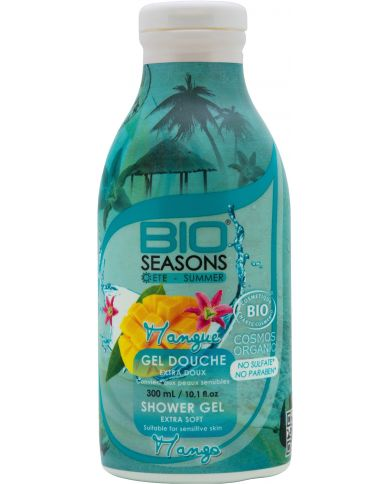 Gel Douche Bio à la Mangue extra doux - 300 ml - Bio Seasons