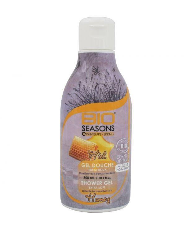 Gel Douche Bio aux Miel extra doux - 300 ml - Bio Seasons