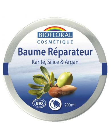 Baume Réparateur Bio au Karité, Silice, Argan et Cire d'Abeille - 200 ml - Biofloral