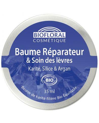 Baume Réparateur Bio & Soins des lèvres au Karité, Silice, Argan et Cire d'Abeille - 35 ml - Biofloral