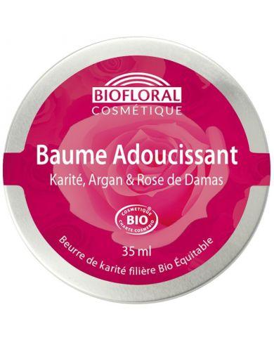 Baume Adoucissant Bio Karité, Argan et Rose de Damas - 35 ml - Biofloral