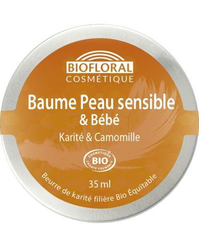 Baume Peau Sensible et Bébé Bio au Karité & Camomille - 35 ml - Biofloral