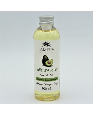 Huile d'Avocat (Avocado Oil) - 100 ml - 100% Naturelle - Tameem