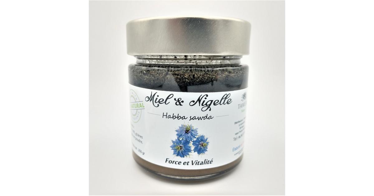 Miel de Fôret + Nigelle (Habba Sawda) - 100% naturel - 250g - Tameem