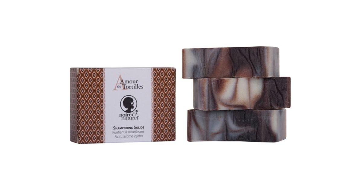 "Shampooing Solide Bio - Amour de Tortilles"" - Ricin, Sésame & Jojoba Bio - Noire Ô Naturel"