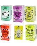 Pack Infusion Plaisir Bio (Fraise-Gingembre, Thé Vert, Mojito, Fruits des Bois, Hibiscus, Pina Colada) - Romon Nature