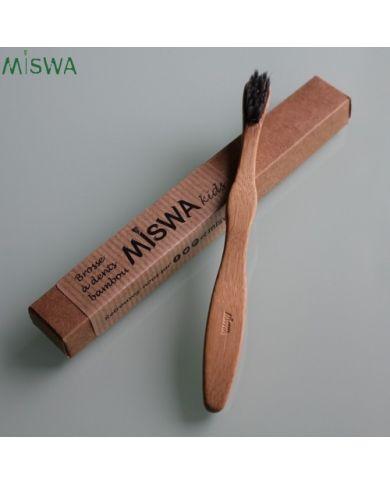 Brosse à dents en bambou pour enfant Miswa KIDS