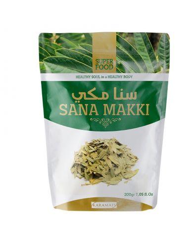 Feuilles de Séné (Sana Makki) en poudre - 100% Naturel - 200g - Karamats