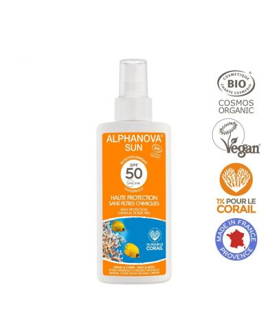 Spray Solaire Bio SPF 50 - Adulte - 125g - Alphanova
