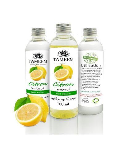 Huile de Citron (Lemon Oil) - 100% Naturel - 100 ml - Tameem