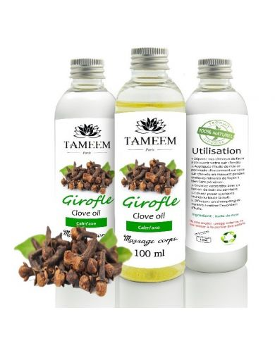 Huile de Girofle (Clove Oil) - 100% Naturel - 100 ml - Tameem