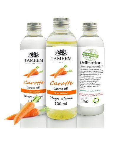 Huile de Carotte (Carrot Oil) - 100% Naturel - 100 ml - Tameem