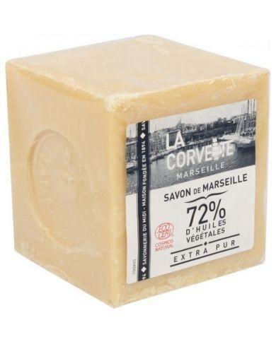 Savon de Marseille 72% d'Huile d'Olive & hypoallergénique - 100% Naturel - Blanc - 300g - Douce Nature