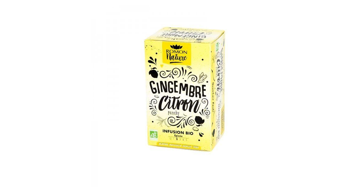 Infusion plaisir Gingembre Citron Bio - Romon Nature