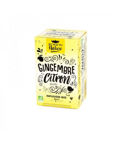 Infusion plaisir Gingembre Citron Bio - Romon Nature