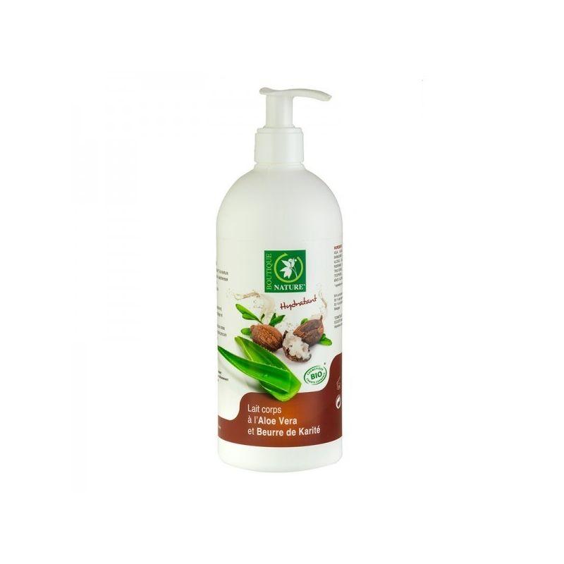 Lait Corps Bio à l'Aloe Vera et Beurre de Karité - 500 ml - Boutique Nature