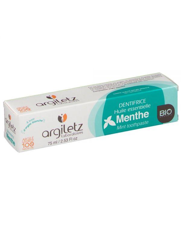 Dentifrice Menthe Bio - 75 ml - Argiletz