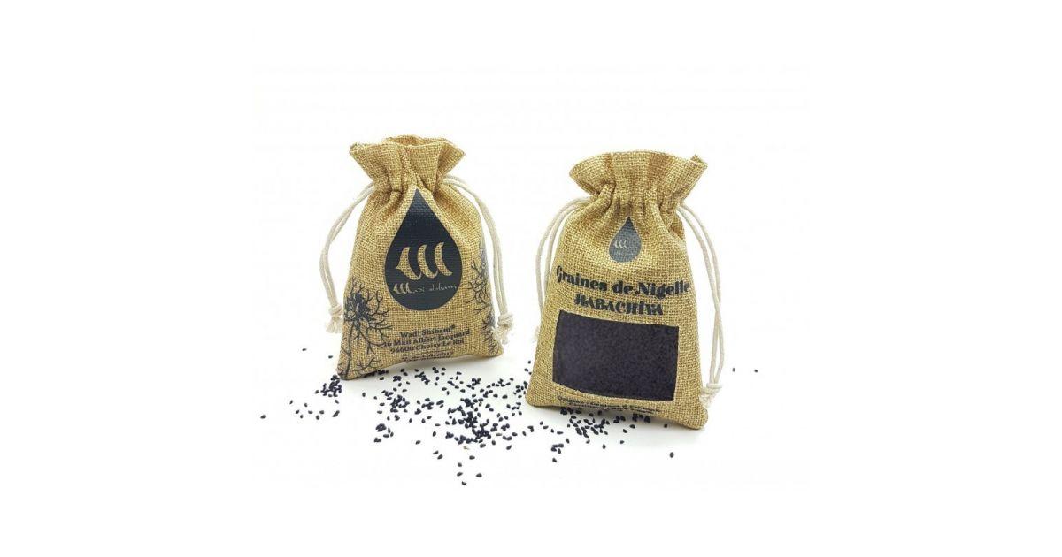 Graines de Nigelle (Habachiya - Cumin Noir) d'Éthiopie - 100% Naturelles - 100g - Wadi Shibam