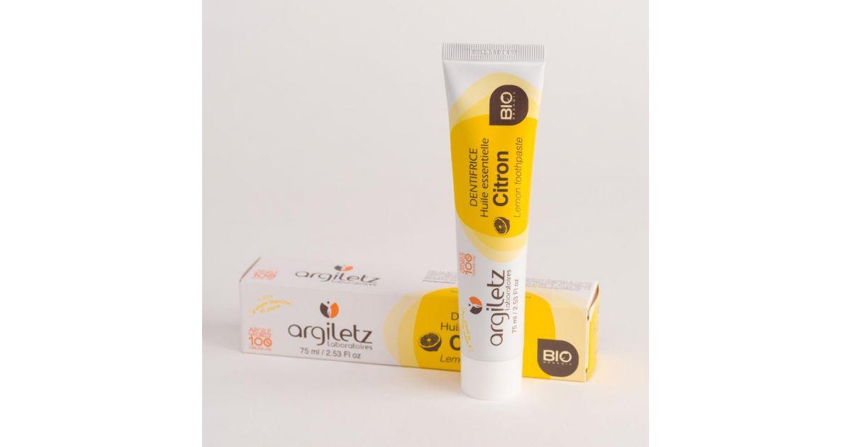 Dentifrice Citron Bio - 75 ml - Argiletz
