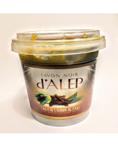 Savon Noir d'Alep - Olive & Laurier & Oud - 100% Naturel & Biodégradable - H&S France