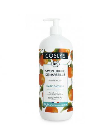 Savon Liquide de Marseille Mandarine Bio - 1L - Coslys