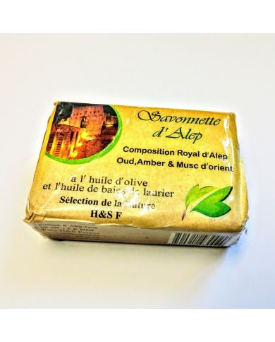 Savon d'Alep - Composition Royal (Oud, Ambre & Musc d'Orient) - 100g - 100% Naturel