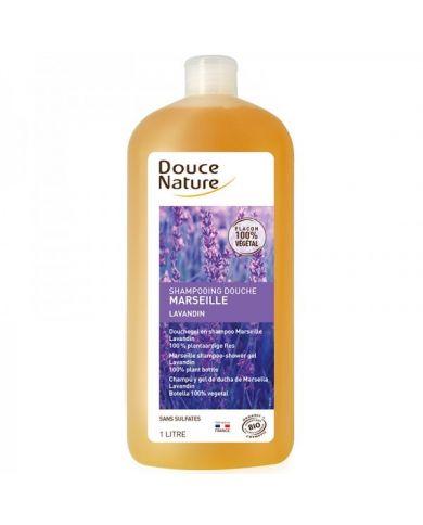 Shampoing Douche au Savon de Marseille Bio - Lavandin - 1L - Douce Nature