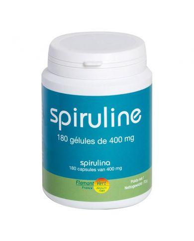 Spiruline - 180 gélules de 400mg - 100% naturelles & végétales - Flamant Vert