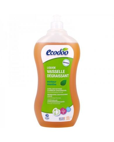 Liquide Vaisselle Dégraissant à la Menthe & au Vinaigre Bio  - 1L - Ecodoo