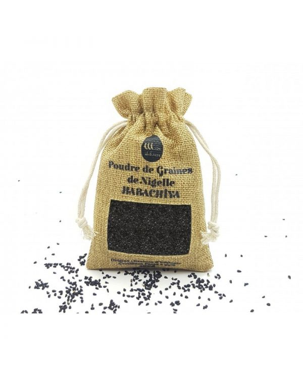 Poudre de Graines de Nigelle (Habachiya - Cumin Noir) d'Éthiopie - 100% Naturelles - 100g - Wadi Shibam